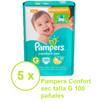 Pampers Confort Sec talla  G 100 pañales