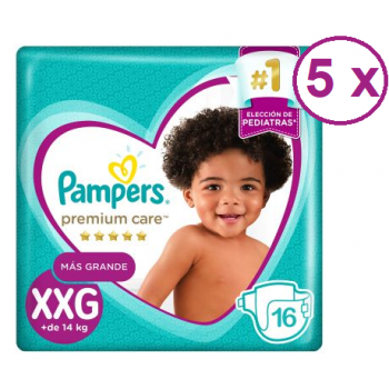 Pampers Premium Care talla XXG 80 pañales