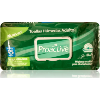 Toallas Proactive Adulto 3 Paquetes x