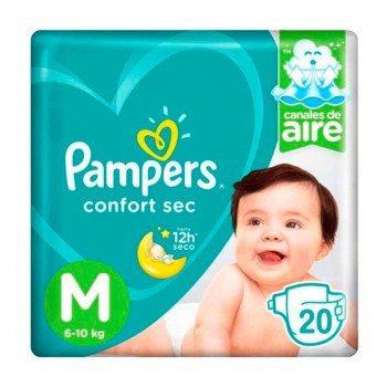 Pampers Confort Sec talla M 100 pañales